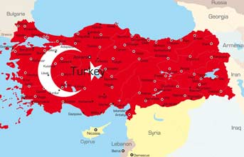 Places, Where Turkish is spoken